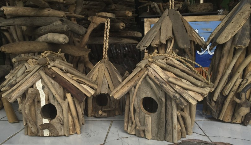 Also for the Garden and now in store were these Driftwood Bird Boxes….so cute and all recycled!